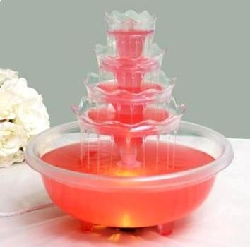 BalsaCircle 5 Tier Wedding Fountain with Lights for Party Decorations Wedding Punch Fountain