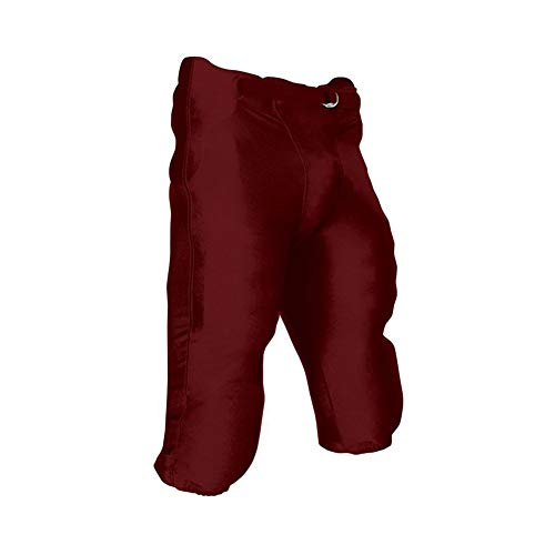 CHAMPRO Youth Integrated Football Game Pant Maroon Medium