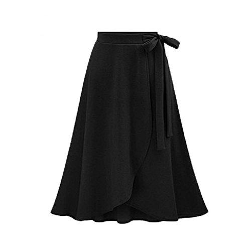 Skating Skirt Patterns (better-caress 6XL Women Irregular Slim Skirt 2018 New Summer Solid High Waist Skirt Pattern Black Medium Long Skirts,1,XXXL)