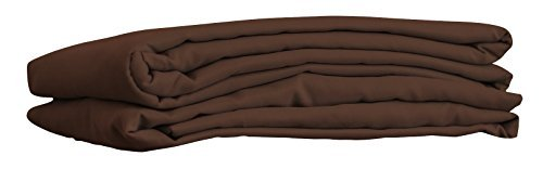 Premium Microfiber Flat Sheet for Massage Tables and Spa Tables by NRG - Color Natural - Set of 3 (Dark Chocolate) by NRG