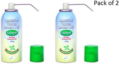 Lidyn 15% Lido Topical Numbing Spray for Dental Tattoo Pack of 2