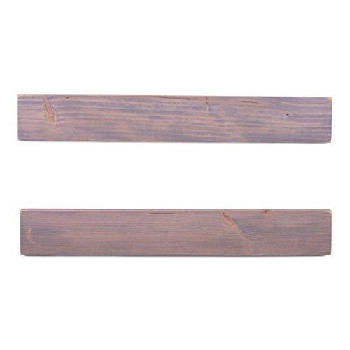 DAKODA LOVE 5.25'' Deep Weathered Edge Floating Shelves, USA Handmade, Clear Coat Finish, 100% Countersunk Hidden Floating Shelf Brackets, Beautiful Grain Pine Wood Rustic (Set of 2) (36'', Greige) by DAKODA LOVE (Image #3)