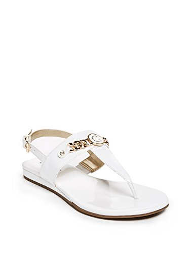 GUESS Factory Women's Janesa Logo T-Strap Sandals (Guess Patent Sandals Leather)
