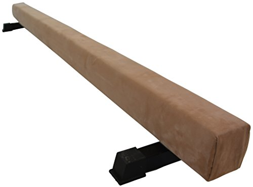 BalanceFrom GoGym 8′ Suede Coated Solid Wood Balance Beam with Padded Top