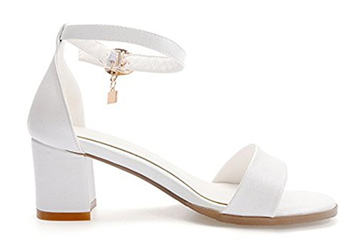 Cheville Bride Ouvert Blanc Mode Sandales Aisun Femme Bout xXgPgI