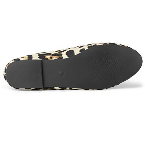 Allegra Zapatos Para Redondeada K Mocasines Impreso Mujeres 2 Punta Leopardo FF5rvwq