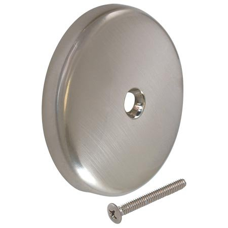 Eastman 35202 Single Hole Overflow Face Plate with Brass Screw, Brushed ()