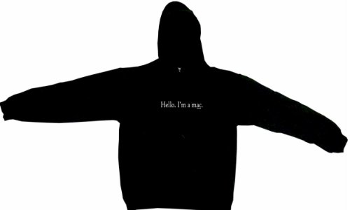 Hello I'm A Mac Men's Hoodie Sweat Shirt Medium, Black