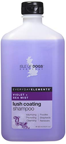 Everyday Isle of Dogs Lush Coating Dog Shampoo, Violet + Sea Mist, 16.9 Ounce ()