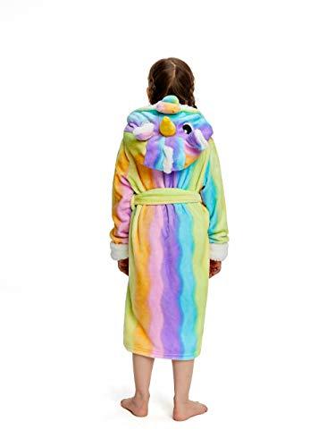 NEWCOSPLAY Girls Robe Soft Hooded Bathrobe Sleepwear Loungewear Gifts for Girls Toddler Kids