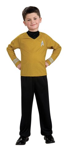 Star Trek Costume Pants (Star Trek Movie Child's Gold Shirt Costume with Dickie and Pants, Large)