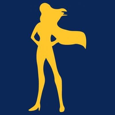 Sudadera con capucha de mujer Superhero Woman by Shirtcity Azul marino