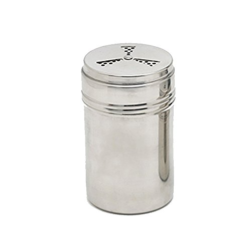 Verdental Adjustable Stainless Steel Dredge Salt Pepper Shaker Seasoning Cans with Trefoil Rotating Cover (Large)