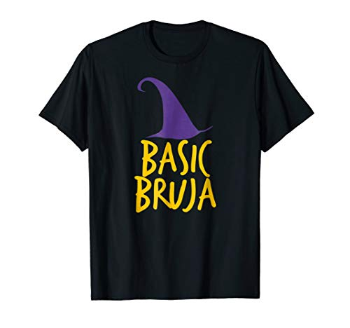 Basic Bruja Witch Hat Funny Wicked Halloween Costume T-Shirt ()