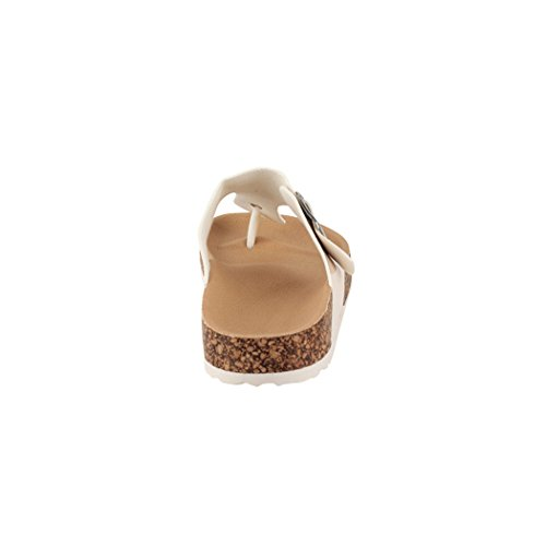 Elara Damen Sandalen | Bequeme Zehentrenner | Sandalette | Chunkyrayan Beige Paris