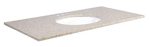 Design House 553370 Granite Vanity Top 43x22, Sandy Beach, 43 x 22 x 0.75 inches, ()