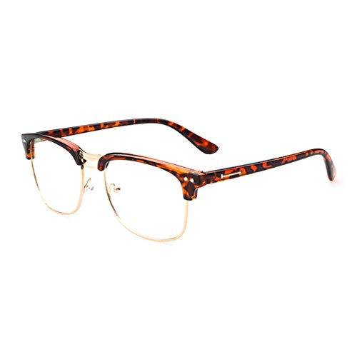 LOMOL Retro Personality Student Style Transparent Lens Frame Glasses For Men&Women(C4) (Where Can I Buy Cat Eye Contacts)