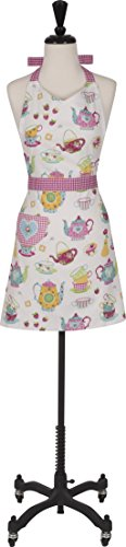 Handstand Kitchen Women's 100% Cotton 'Spring Tea Party' Apron with Patch - Easter Apron