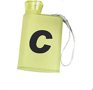 Plastic Water Bottle Personality Paper Water Bottle Flat Kettle Outdoor Sport Drinkware Travel Cup 220ml-Yellow