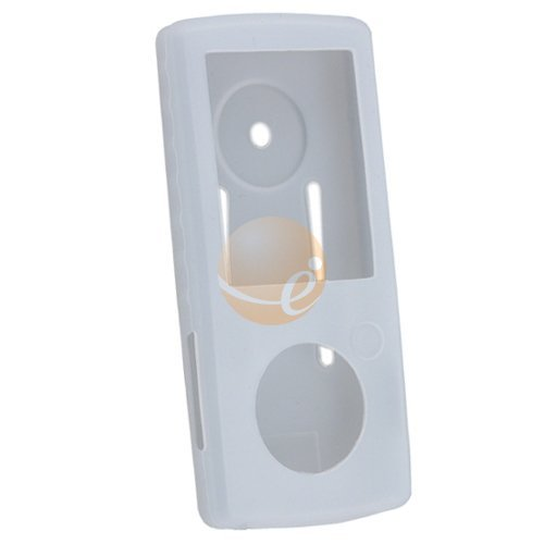 Smoke Durable Silicone Skin Case w/ Belt Clip for SanDisk Sansa View