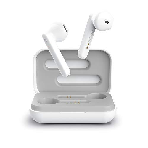 Trust Mobile Primo Touch Draadloze Bluetooth Oordopjes, Wireless Earphones met Oplaadcase (10 uur Speeltijd, Ingebouwde…
