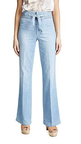 Joe's Jeans Women's HR Belted Flare Jeans, Chelsea, Blue, 30