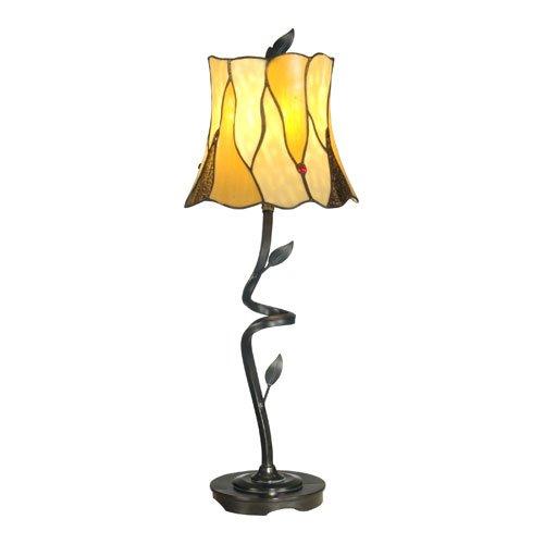 Dale Tiffany TB11030 Twisted Leaf Tiffany Buffet Lamp, Antique Bronze by Dale Tiffany Lamps [並行輸入品]  B0088MLJUW