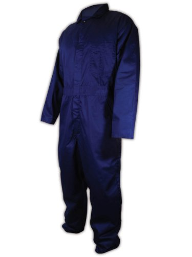 Magid N1540 A.R.C. Cotton Arc-Resistant Coverall, Mandarin Collar, Extra-Large, Navy Blue