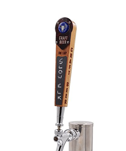- Bottle Cap Beer Tap Handle with Chalkboard and Magnetic Cap Holder- Classy Edition, Keg tap