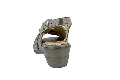 confort 4561 Piesanto en confortables femme amples cuir Titanio sandale Chaussure 5ZWApqHH