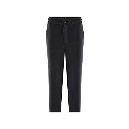 (Spring Solid High Waist Harem Pants Women Lace up Trousers Casual Streetwear Pencil Pantalones,Black,M)