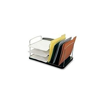 Buddy Products Trio Desk Combo, 3 Vertical and 3 Horizontal Pockets, 11 x 8.25 x 16.25 Inches, Black (7602-4) Buddy Products Desk Combo