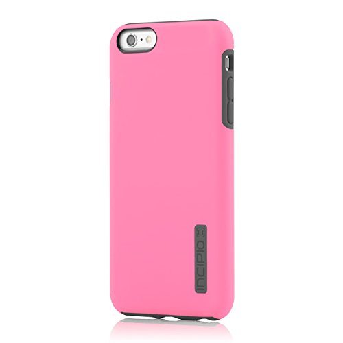 (iPhone 6S Plus Case, Incipio DualPro Case [Shock Absorbing] Cover fits Both Apple iPhone 6 Plus, iPhone 6S Plus - Highlighter Pink/Charcoal)