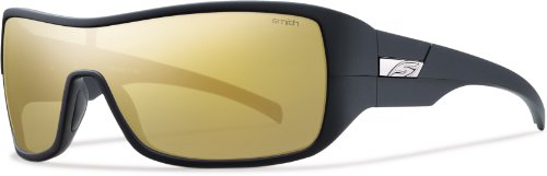 Smith Optics Stronghold Sunglass, Matte Black / Polarized Gold Mirror TLT - Tlt Optics
