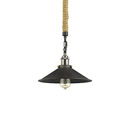 CLAXY Ecopower Vintage Metal & Hemp Rope Chain Pendant Light Hanging ...