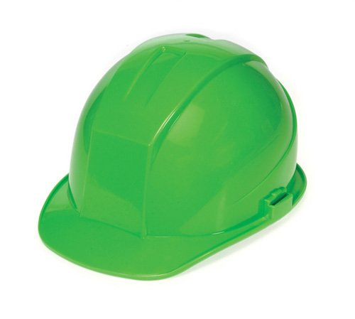 - Liberty DuraShell HDPE Cap Style Hard Hat with 4 Point Ratchet Suspension, Hi-Vis Green (Case of 6)