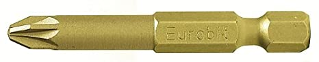 jaune PH1/x 50/mm Eurobit 2707/embouts pour visseuse 5/pi/èces