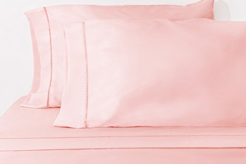 ViscoSoft Chic'y Luxe Grace - Premium Microfiber Sheet Set - Super Soft, Hypoallergenic, Wrinkle Resistant, Fade Resistant, Deep Pocket, Embellished – 4 piece (Full, Pink)