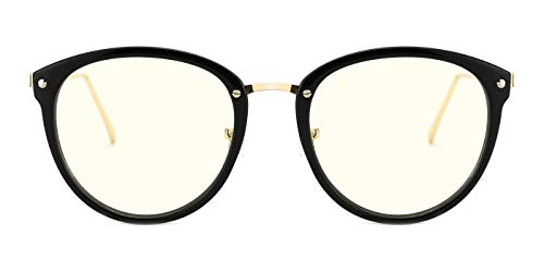 - TIJN Blue Light Block Glasses|Round Optical Eyewear Non-prescription Eyeglasses Frame for Women