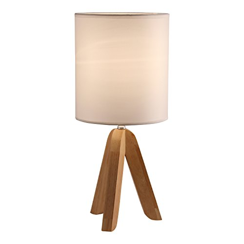 Light Accents Tripod Table Lamp with Natural Wooden Tripod Base with Linen Shade -  Lightaccents, 626TL-20-FBA-