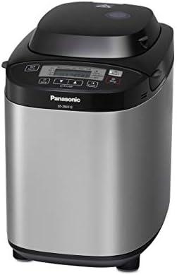 Panasonic Machine à Pain SD-ZB2512KXE, 33 Programmes, Spécial Pain sans Gluten, Pâte à Pizza, Pain Complet, Confiture, 3 tailles de Pain - M, L, XL - Inox