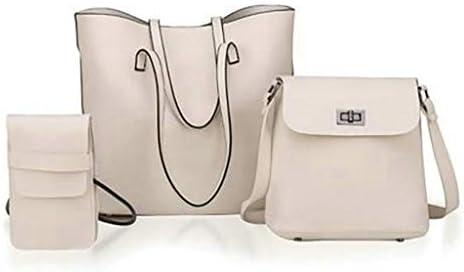 女性3ピースセットトートバッグハンドバッグショルダーバッグ電話バッグバケットバッグ YZUEYT