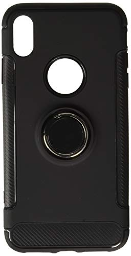 iPhone Xs Max Case, PK-STAR Dual Layer Magnetic 360 Rotating Ring Grip Holder Stand Metal Patch Shock-Absorption Hard PC & Soft TPU for iPhone Xs Max (Black)
