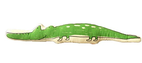 (PANDA SUPERSTORE Cute Cartoon Creative Sofa Cushion and Pillow Birthday Gift-The Crocodile)