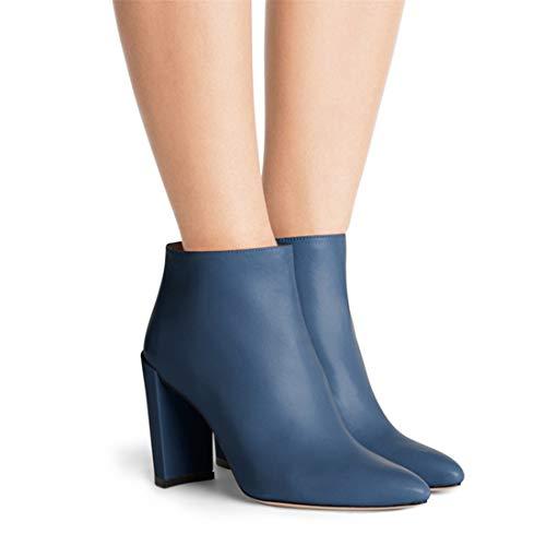 con blue donna Stivali donna europea Stivali da alto a e punta Sandalette DEDE da americana tacco Scarpe xngRwqf80a