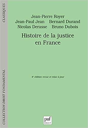 Book's Cover of Histoire de la justice en France (Français) Broché – 2 novembre 2016