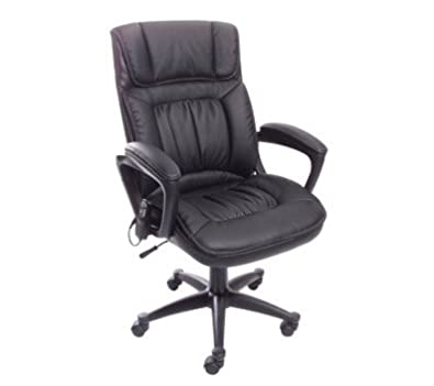 Serta PureSoft Executive Massage Chair, Midnight Black