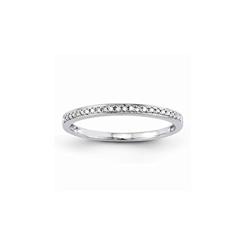 14k Semi-Mounting Wg Wedding Band, No Center Stone Included (Mountings Wg 14k)