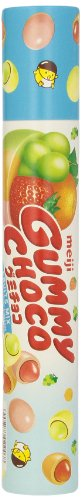 Meiji Gummy Choco Mix Fruit, 2.86-Ounce Tubes (Pack of 6) (Mix Gummy)