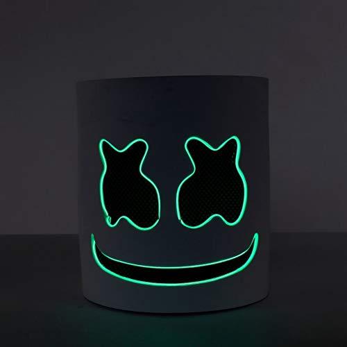 WEIZHUANGZHE DJ Music Festival LED Luminous Helmet Mask Halloween Popular Cosplay Prop Party Bar DJ Masks Marshmallow Mask Dropshipping,3style]()